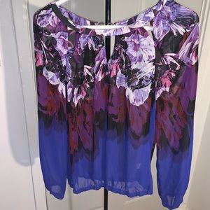 Cute Bluish and Purple Jennifer Lopez Blouse
